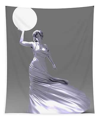 Lady Of Light Tapestry