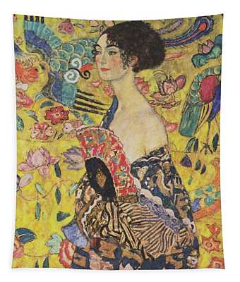Lady With Fan Tapestry