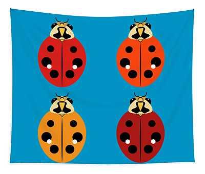Ladybug Quartet Tapestry
