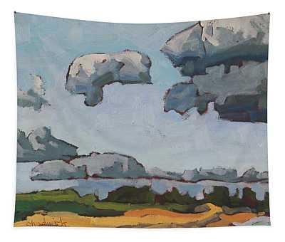 Lake Breeze Cumulus Over Southampton Beach Tapestry