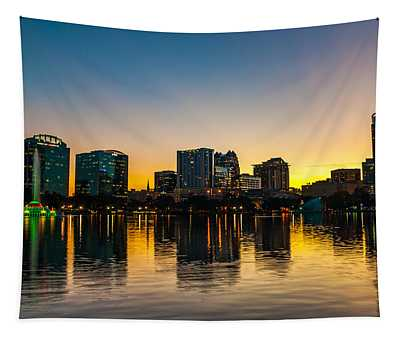 Lake Eola Sunset Tapestry