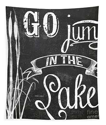 Lake House Rustic Sign Tapestry