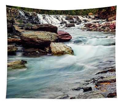 Lake Mcdonald Falls, Glacier National Park, Montana Tapestry