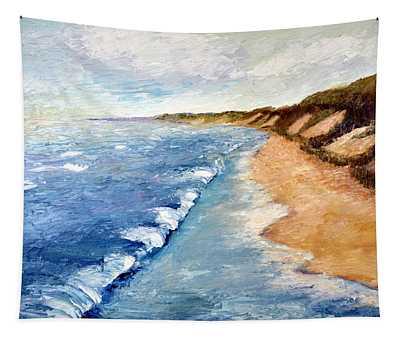 Lake Michigan With Whitecaps Ll Tapestry