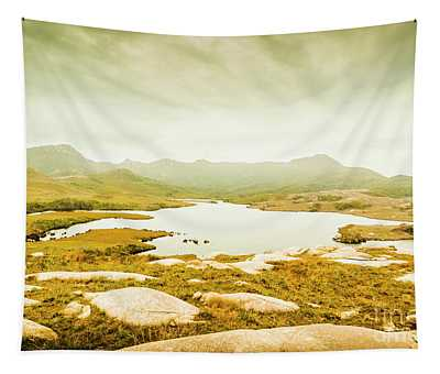 Lake On A Mountain Tapestry
