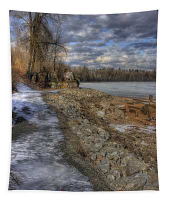 Lake Pend D'oreille At Humbird Ruins Tapestry
