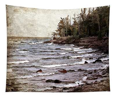Lake Superior Waves Tapestry
