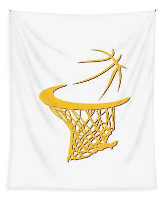 Lakers Basketball Hoop Tapestry