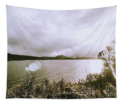 Lakes In Sunset Tapestry