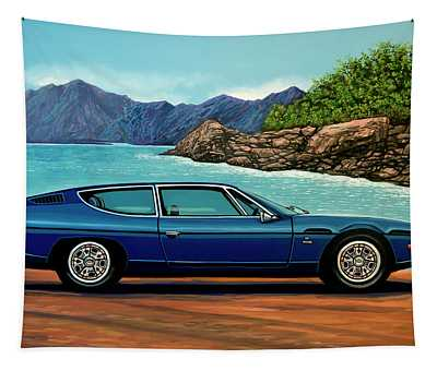 Lamborghini Espada 1968 Painting Tapestry