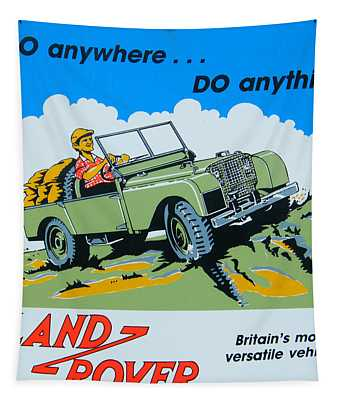 Landrover Advert - Go Anywhere.....do Anything Tapestry