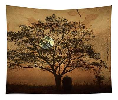 Landscape On Adobe Wall Tapestry