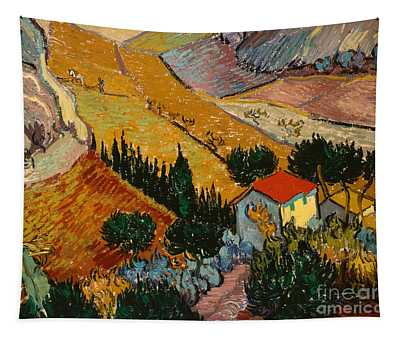 Landscape With House And Ploughman Tapestry