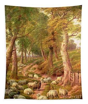 Landscape With Sheep Tapestry