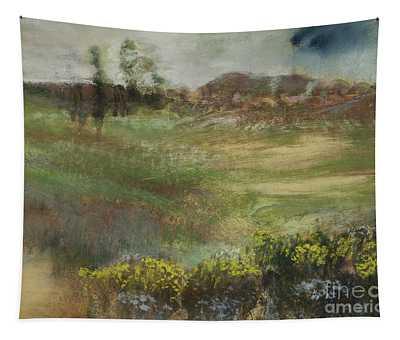 Landscape With Smokestacks Tapestry