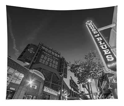 Lansdowne Street Fenway Park House Of Blues Boston Ma Black And White Tapestry