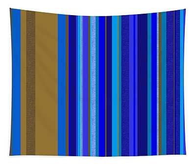 Large Blue Abstract - Panel Two Tapestry