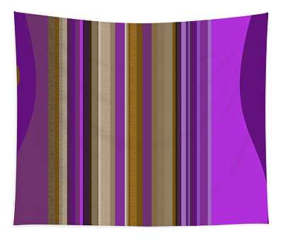 Large Purple Abstract Tapestry