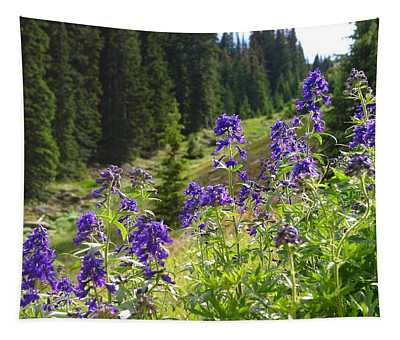 Larkspur Along Trail Ridge Road Tapestry