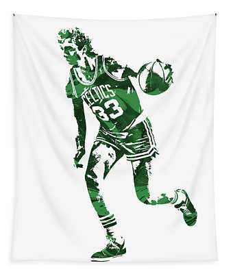 Larry Bird Boston Celtics Pixel Art 10 Tapestry