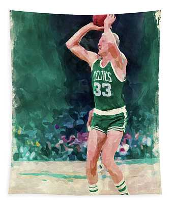 Larry Bird Paint Tapestry