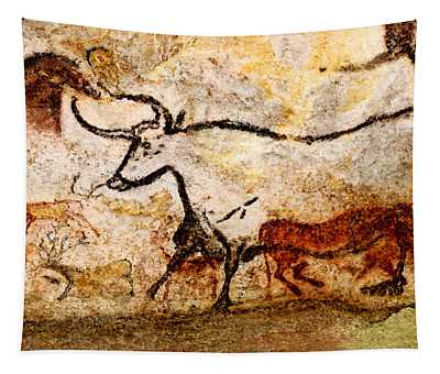 Lascaux Hall Of The Bulls - Aurochs Tapestry
