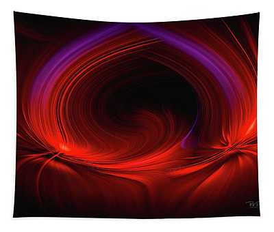 Laser Light In Red Tapestry
