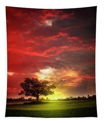 Last Light At Nightfall Tapestry