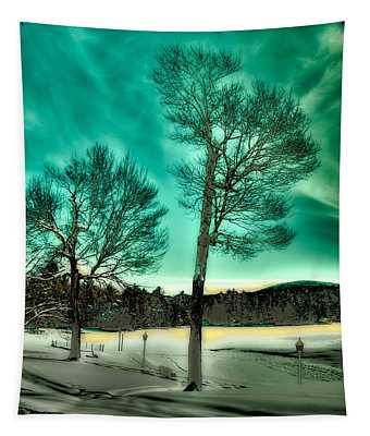 Late Sun On Old Forge Pond Tapestry