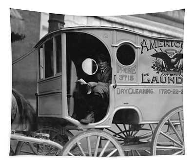 Laundry Delivery Boy - Birmingham 1914 Tapestry