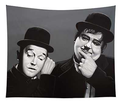 Laurel And Hardy Tapestry