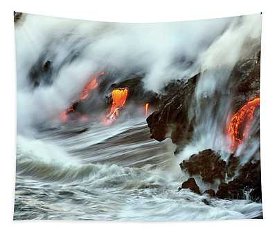 Lava And Ocean Tapestry