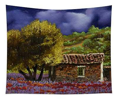 Lavanda Sotto Il Cielo Blu Tapestry