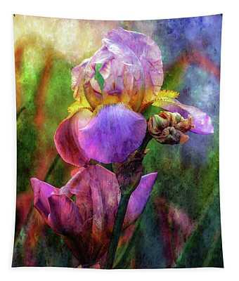 Lavender Iris Impression 0056 Idp_2 Tapestry