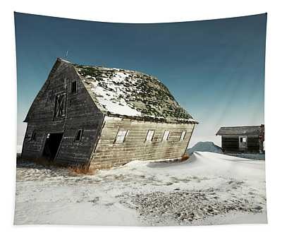 Leaning Barn Tapestry