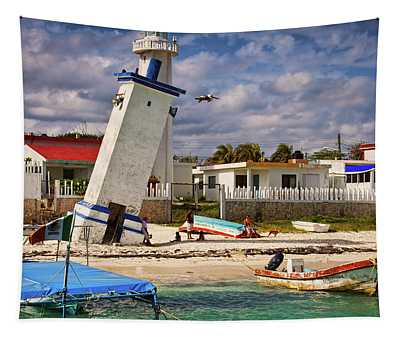Leaning Lighthouse Tapestry