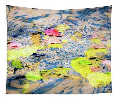 Leaves In The Fountain Tapestry