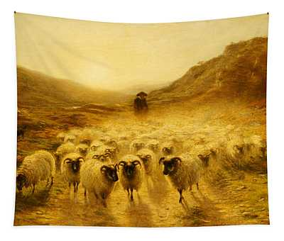 Leaving The Hills, 1874 Tapestry
