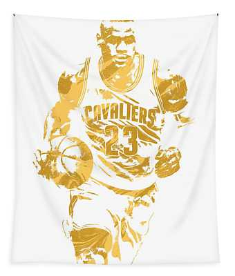 Lebron James Cleveland Cavaliers Pixel Art 7 Tapestry