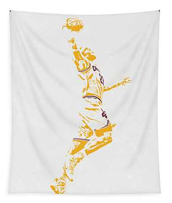 Lebron James Cleveland Cavaliers Pixel Art Tapestry