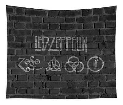 Led Zeppelin Brick Wall Tapestry