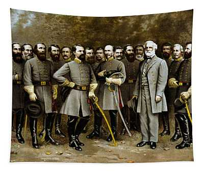 Robert E. Lee And His Generals Tapestry