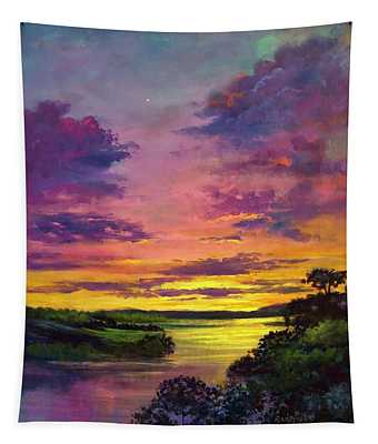 Legend Of A Sunset  Tapestry