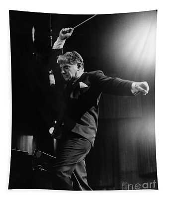 Tapestry featuring the photograph Leonard Bernstein by Granger