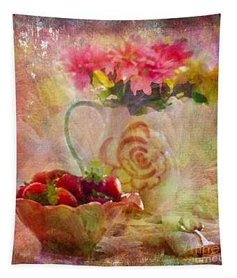 Les Fraises Et Les Fleurs 2015 Tapestry