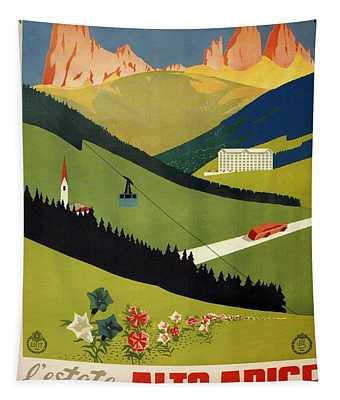 L'estate Nell Alto Adige, Italy - Retro Travel Poster - Vintage Poster Tapestry