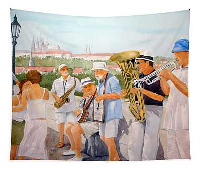 Lets Dance Tapestry by Rosie Phillips