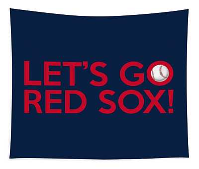 Let's Go Red Sox Tapestry