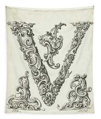 Letter V Tapestry