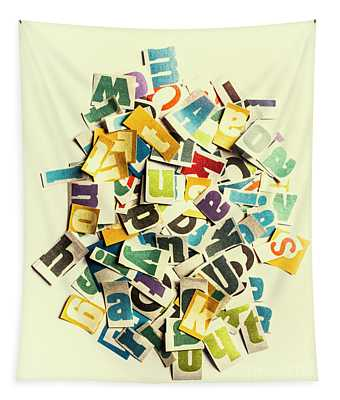 Letters In Jumble Tapestry